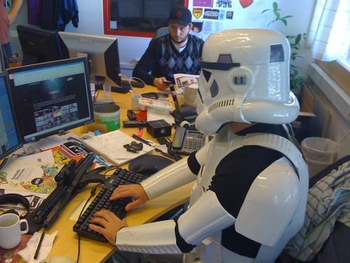 Can you twitter while wearing a Stor Trooper Uniform?