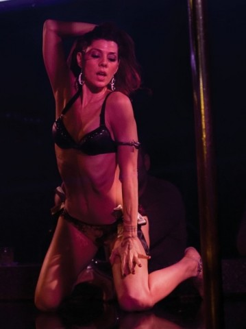 Marisa Tomei as a stripper in The Wrestler