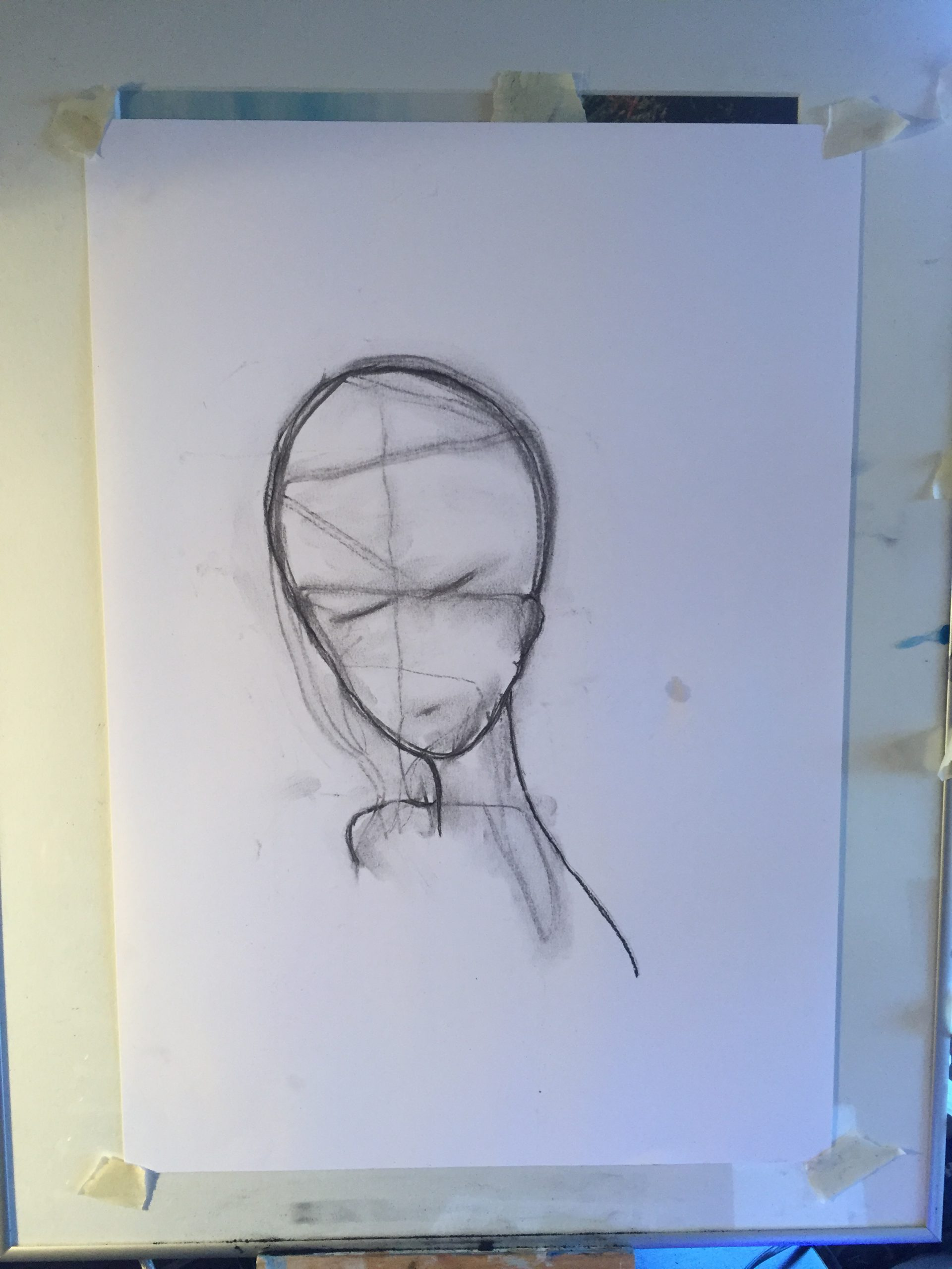We must be kind. Original artwork drawing in charcoal.